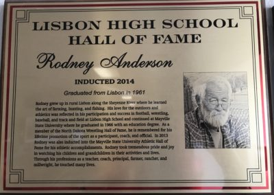 Hall of Fame Inductee - Rodney Anderson